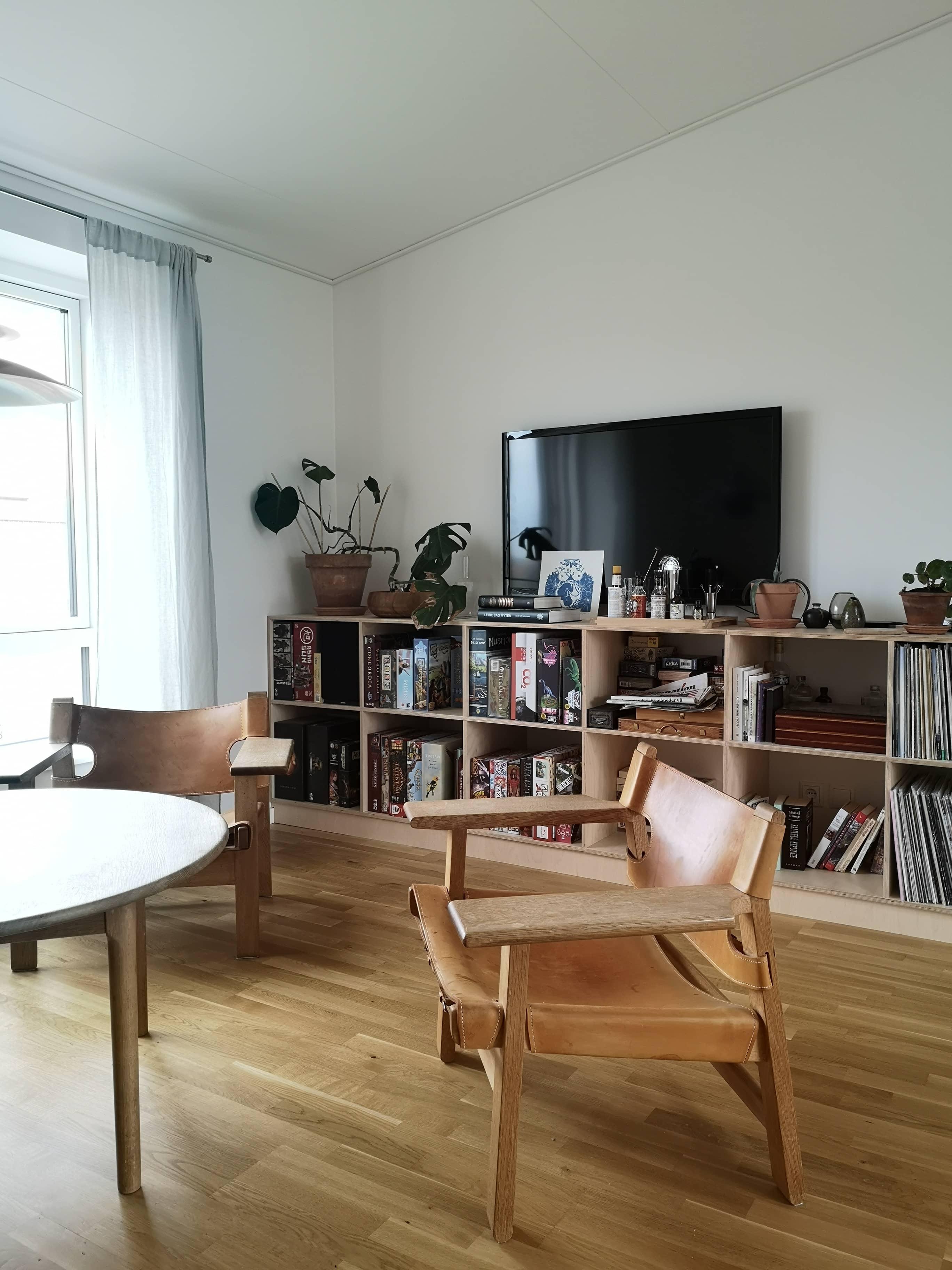 Reol, opbevaring, tv-møbel, lakeret birkefinér